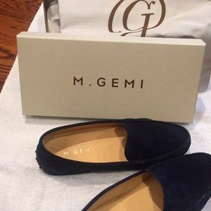 M.Gemi The Felize Suede Moccasins (Midnight Blue)